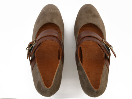 Chie Mihara Sopa Heel in gray / brown : Ped Shoes - Order online or 866.700.SHOE (7463).